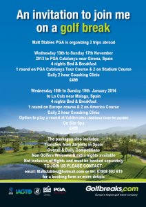 Golf Trips 2013